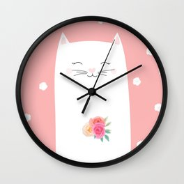 cat bride Wall Clock