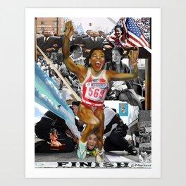 AMERICA ON HER BACK Art Print