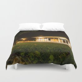 Bus and trainstation Duvet Cover