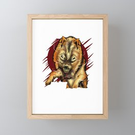 If I'm Not Dead I'm Not Finished Wolf Animal Framed Mini Art Print