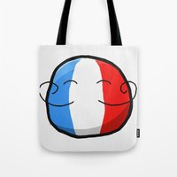france Tote Bags featuring France by Thomas Official