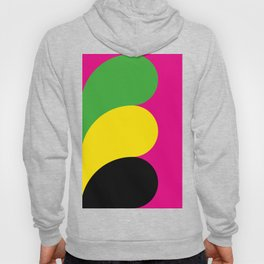 Three colorful waves, from the left, in a deep purple background. Hoody