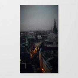 Nightfall over Copenhagen Canvas Print