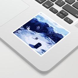 Tardis Art At The Snow Mountain Sticker