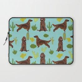 Irish Setter cactus southwest desert dog breed cute gift for dog lover pupper portrait pattern gifts Laptop Sleeve