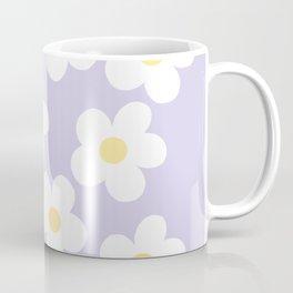 Lavender 70's Retro Flower Power Coffee Mug