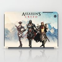 assassins creed iPad Cases featuring Assassins Creed Attack by bivisual