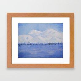 Alaskan Mountains Framed Art Print