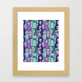 Ghoul Stripes Framed Art Print