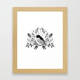 A Bird with Seven Moons Framed Art Print