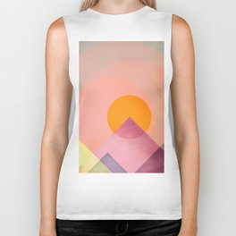 Sun in the mountains Biker Tank