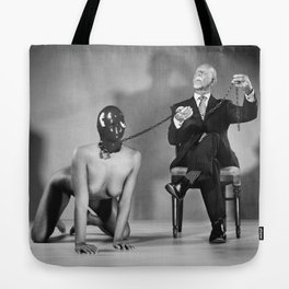 The Master - Nude woman in bdsm setting Tote Bag
