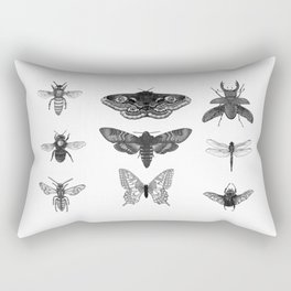 Insect Illustration Collection Rectangular Pillow