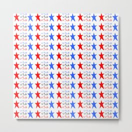 USA 3- america,us,united states,american,new york,hollywoord,spangled,banner,star and strips Metal Print