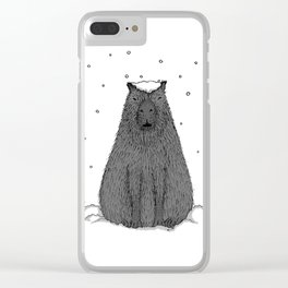 Capybara and Snow Clear iPhone Case