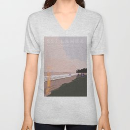 Ahangama, Sri Lanka Travel Poster Unisex V-Neck