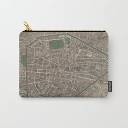 Vintage Map of Brussels Belgium (1876) Carry-All Pouch