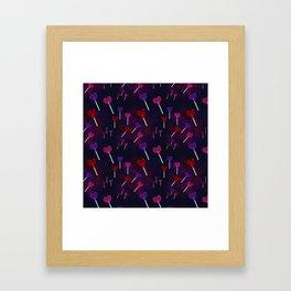Lollipop Hearts Pattern Framed Art Print