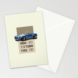 The Classic Game Cheat Code: How do you turn this on Funny Blue Cobra Car Stationery Cards