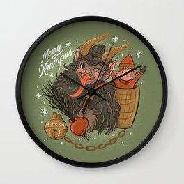 Merry Krampus Wall Clock