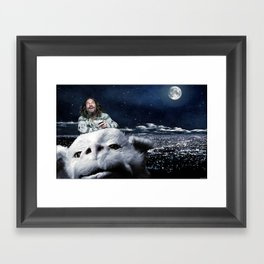 The Dude Rides Falcor Framed Art Print