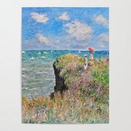 Claude Monet Cliff Walk At Pourville 1882 Poster