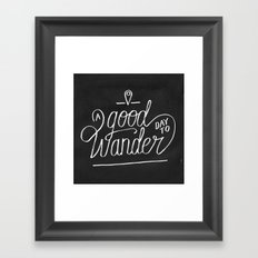 Good Day to Wander Framed Art Print