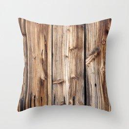 Wood pattern Throw Pillow