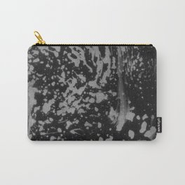 Abstract black gray watercolor splatters brushstrokes pattern Carry-All Pouch