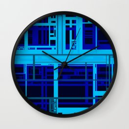 Blue Circuit Wall Clock