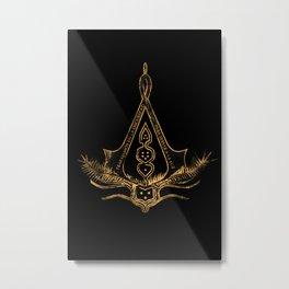 Work in the Dark Metal Print