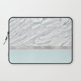 Calacatta verde - silver turquoise Laptop Sleeve