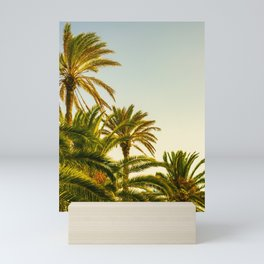Tropical Palm Trees in Morning Light Mini Art Print