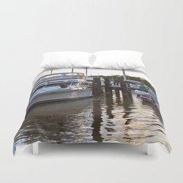 Chesapeake Docks Duvet Cover