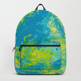 Dirty Acrylic Pour Painting 15, Fluid Art Reproduction Abstract Artwork Backpack