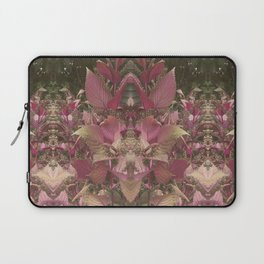 Red Shiso Warm Tones Pattern Laptop Sleeve
