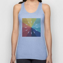 Modern Color Wheel Unisex Tank Top