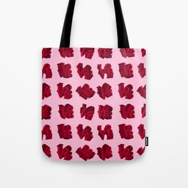 LOVE 3D Icon on pink background Tote Bag