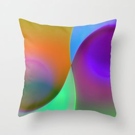 green lines -1- colorvariation Throw Pillow
