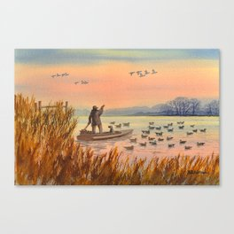Duck Hunting On A perfect Day Canvas Print