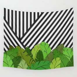 Green Direction Wall Tapestry