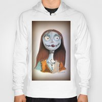 nightmare before christmas Hoodies featuring Sally from nightmare before Christmas by Melissa Rodriguez