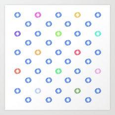 Watery Specks Art Print