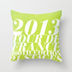 2013 Tour de France: Sprint!  Throw Pillow