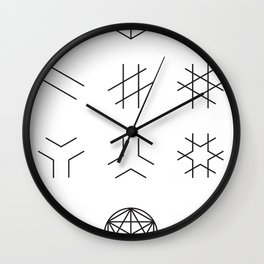 The Story of Geometry Wall Clock