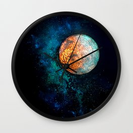 Mars and Luna Wall Clock