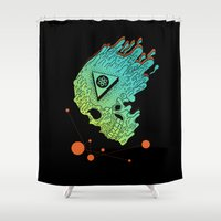 child Shower Curtains featuring Child of Atom by Josh Ln