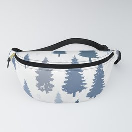 Pines and snowflakes pattern Fanny Pack