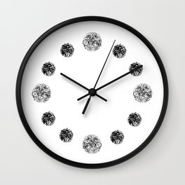 yarn ball pattern Wall Clock
