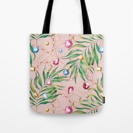 Glamorous Palm Pink Tote Bag